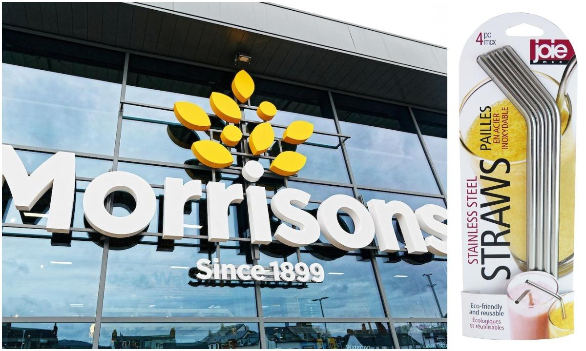 Morrisons' reusable stainless steel straws could help