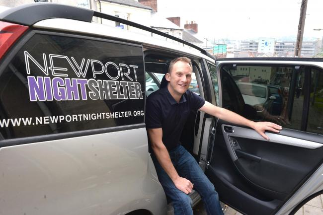 Marc Hepton from Eden Gate is appealing for a new car for the Newport charity. .www.christinsleyphotography.co.uk.