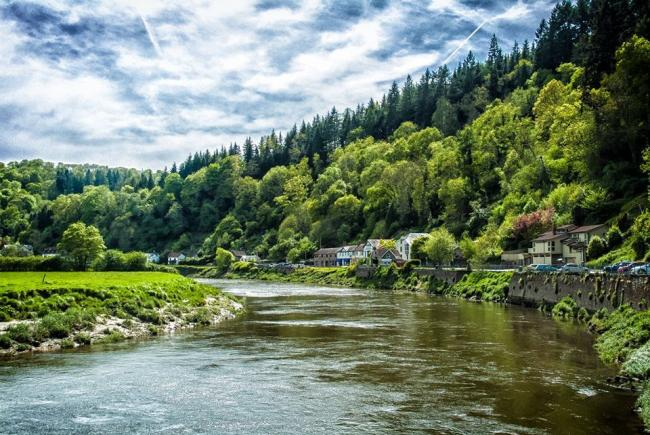 The River Wye runs alongside the village of Tintern. Picture: South Wales Argus Camera Club member David James