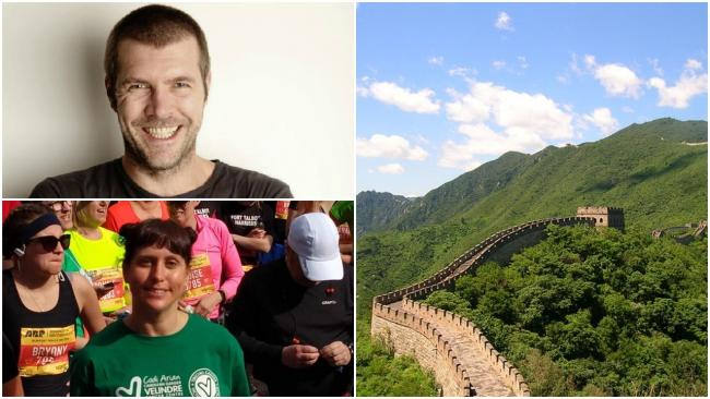 Emma Eatwell will join Rhod Gilbert on a trek of the Great Wall of China to raise money for Velindre Cancer Centre