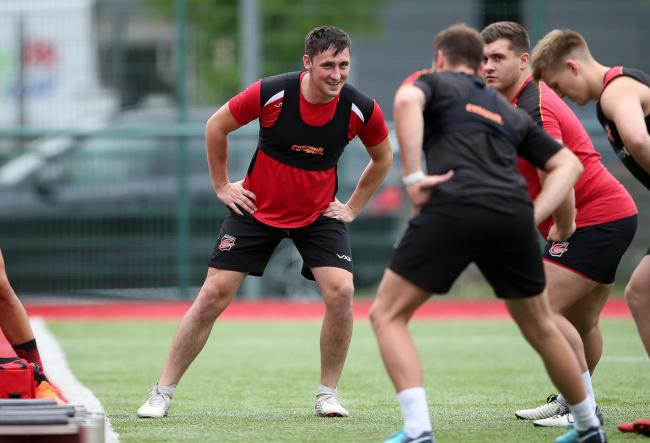 FIRST OUTING: Fly-half Sam Davies is set to play for the Dragons XV at Cardiff Arms Park