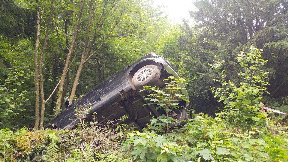 Driver flees scene after car ends up in tree near Devauden