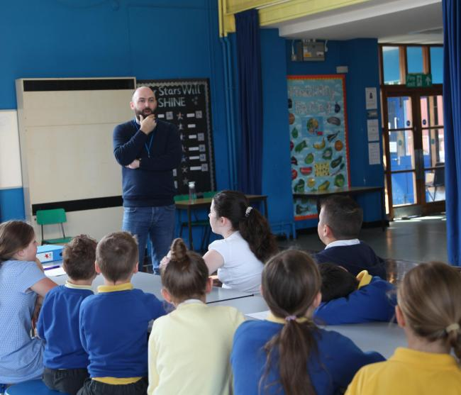 Gareth Waters, Alliance Marketing Agency at Pontnewydd Primary School