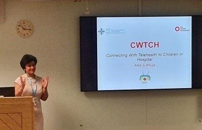 Project lead Alka Ahuja at the launch of the CWTCH programme at Nevill Hall Hospital, Abergavenny