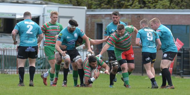 ON THE CHARGE: Captain Ashley Sweet and Ebbw Vale will face Scottish opposition next year