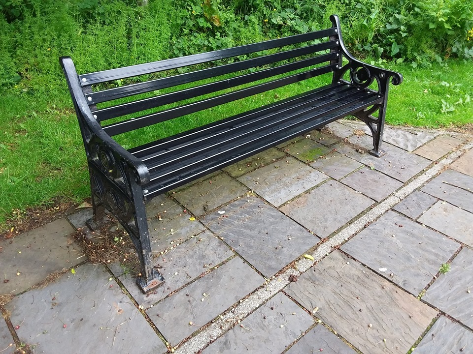 Blaenavon world heritage site bench stolen