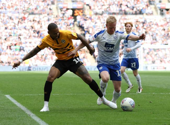 TARGET: Keanu Marsh-Brown in action for Newport County against Tranmere Rovers at Wembley last month