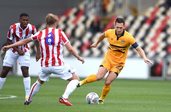 EXPERIENCE: Veteran midfielder Andrew Crofts in action for Newport County in pre-season last July