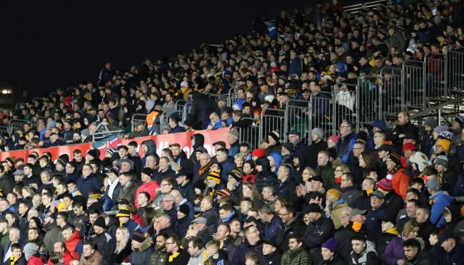 SUPPORT: Newport County fans filled Rodney Parade for the visit of Manchester City in February