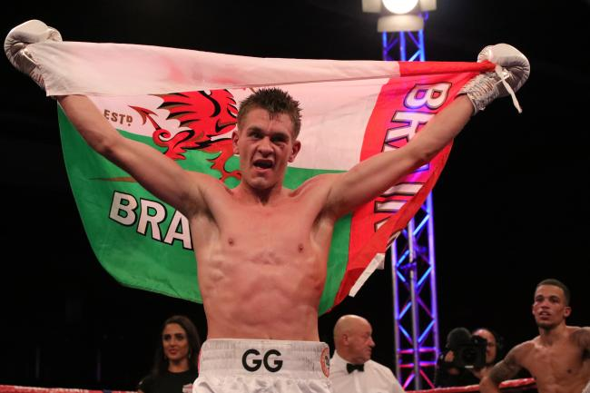 BRITISH HOPES: Gavin Gwynne celebrates his victory over Myron Mills last October. Picture: liamhartery.com