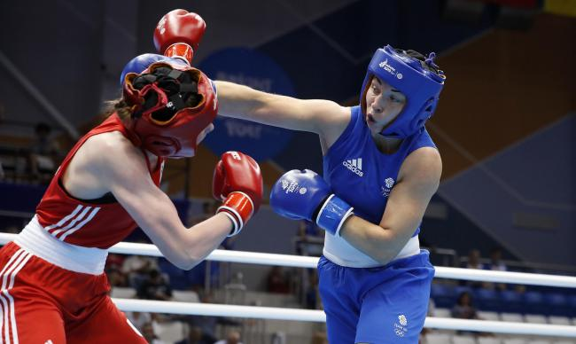 Olympic hopeful Lauren Price strikes European Games gold in Minsk