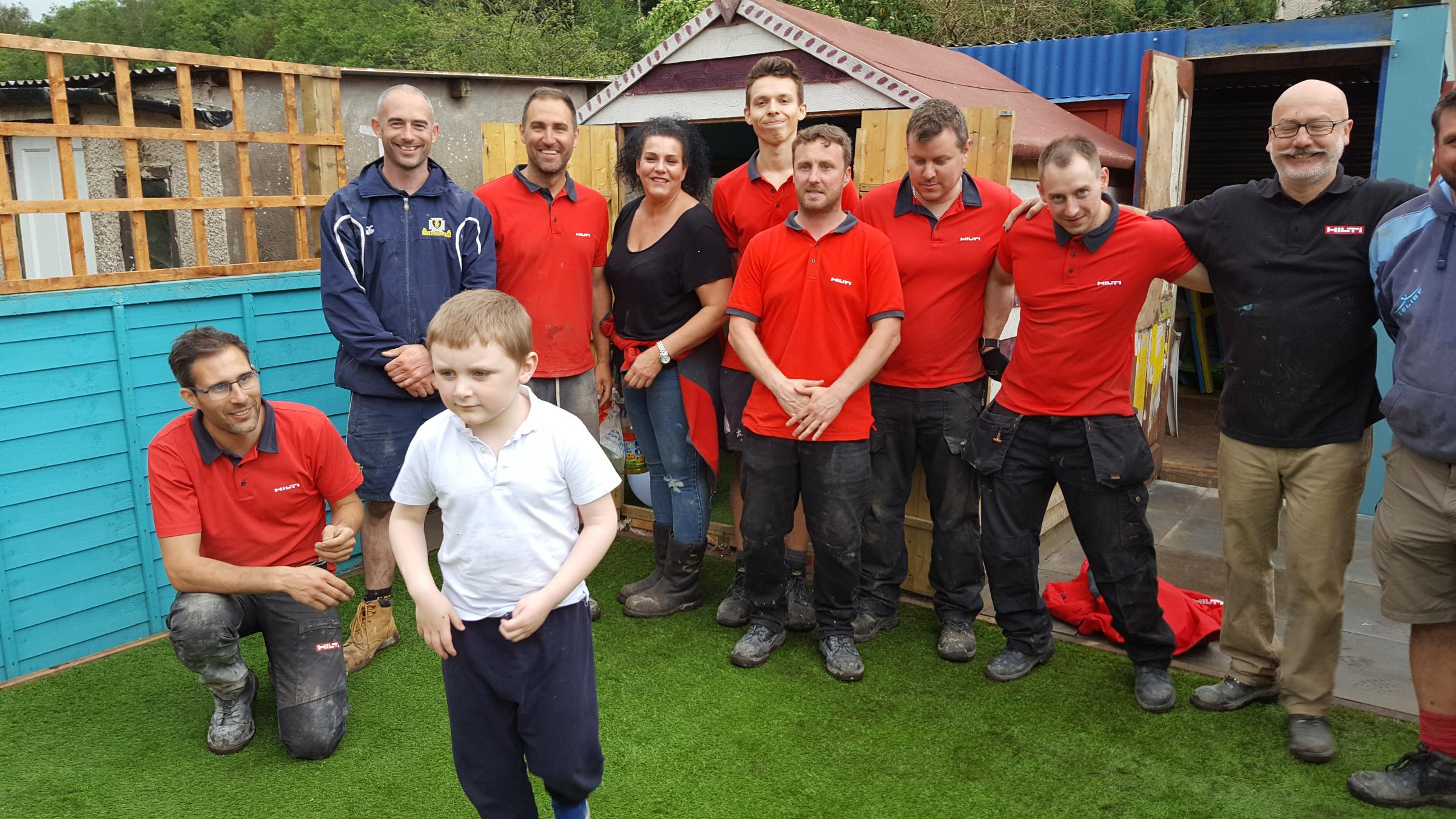 A five-year-old Ebbw Vale boy with severe learning disabilities now has a safe garden haven to play in