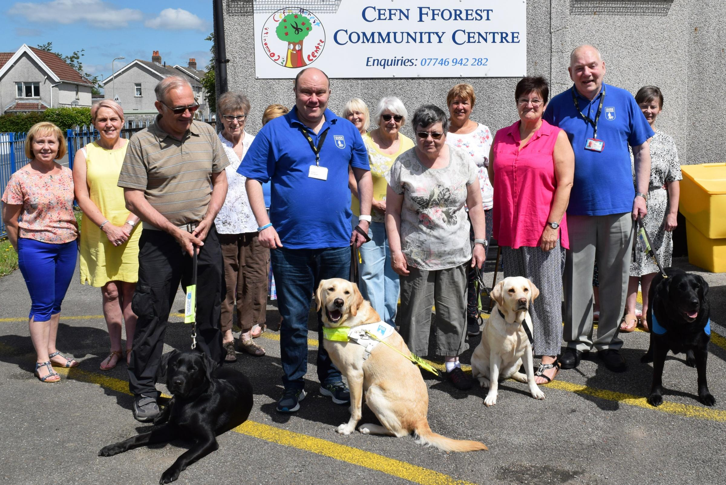 Caerphilly craft group get creative to raise money for Guide Dogs Cymru