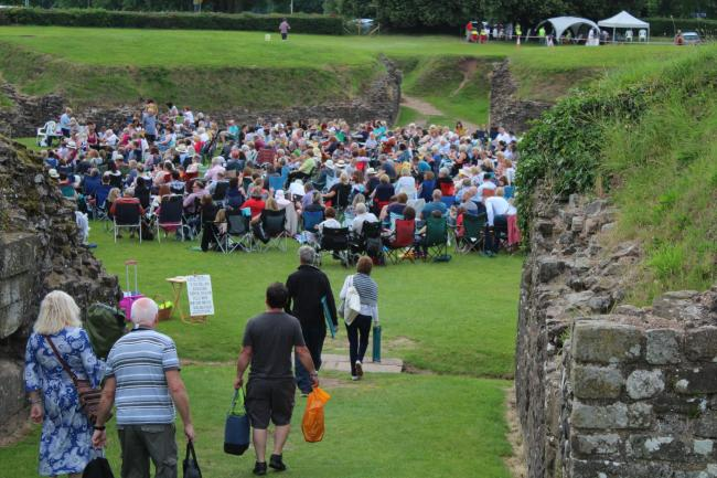 Crowds gathered for Caerleon Festival