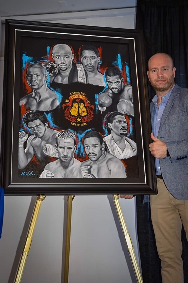 Former boxer from Newbridge becomes official artist to a boxing Hall of Fame in the USA
