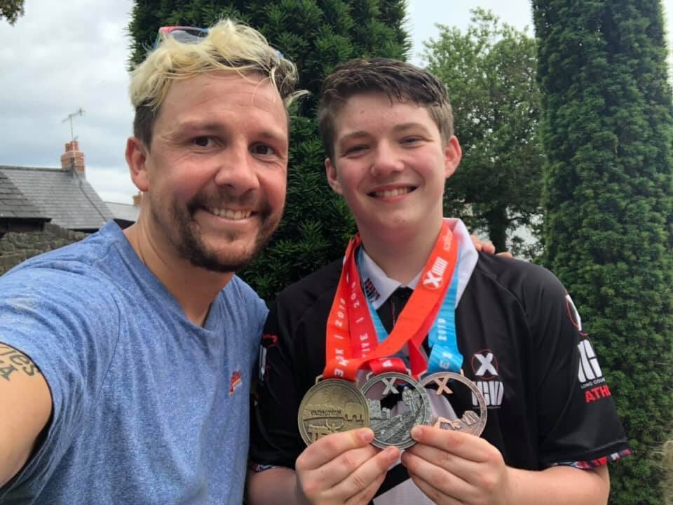What a difference a year makes - Pontypool teenage sepsis survivor completes epic endurance challenge