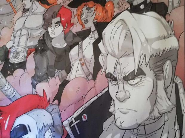 South Wales Argus: In an image from the graphic novel, John Frost (right) and other Chartists have been designed with punk influences.