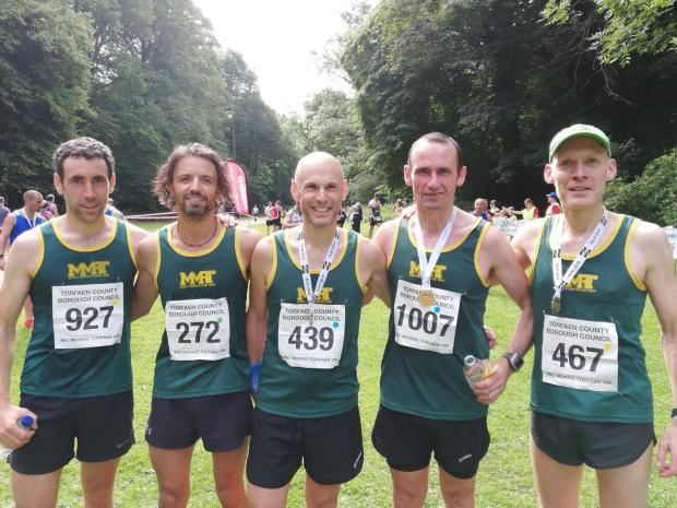 South Wales Argus: MMRT runners (L-R): Leighton Rawlinson, Andy Hunt, Iestyn Rhodes, Rob John, and Stefan Simms.