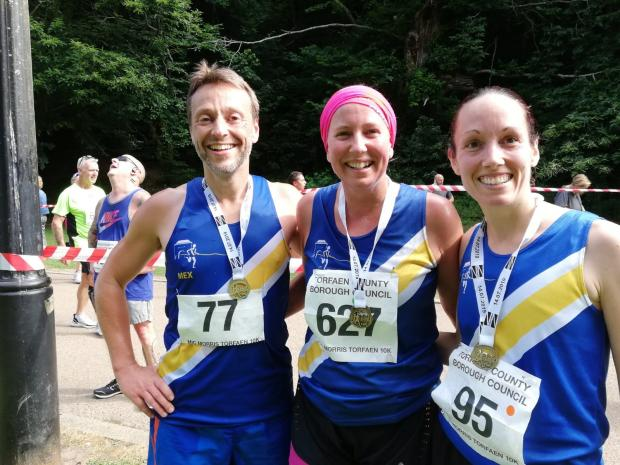 South Wales Argus: Spirit of Monmouth runners (L-R): Mex Gaillard, Emma King, and Sophie Williams.