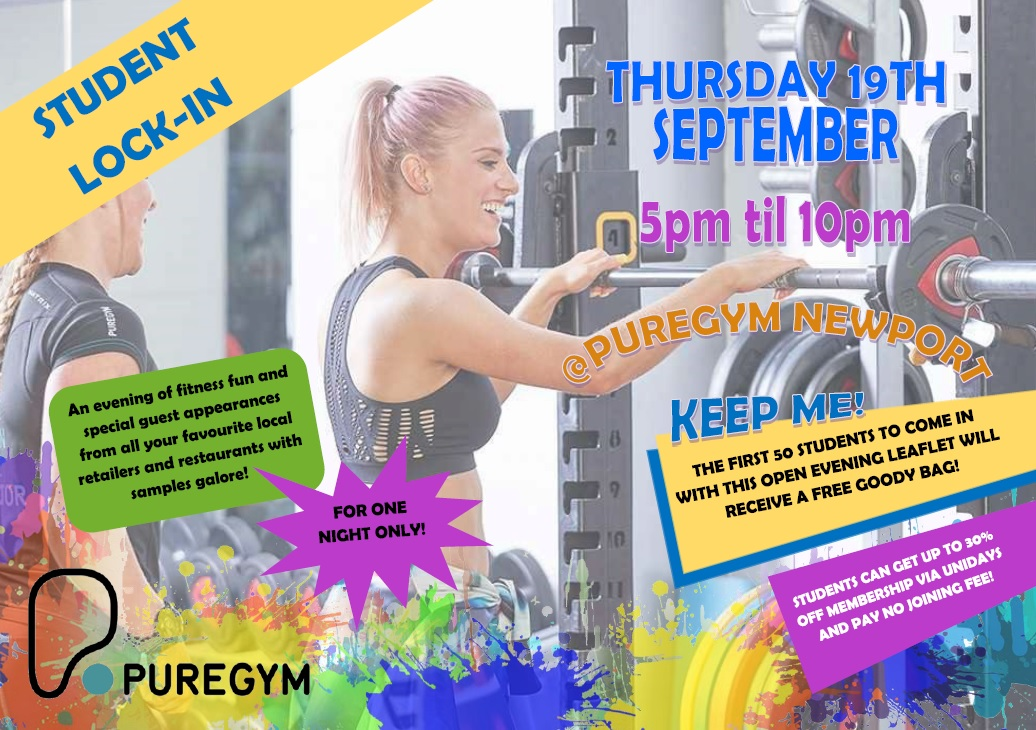 Pure Gym Newport Student Lock-in