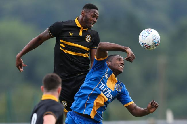 SCORER: Jamille Matt got the only goal as Newport County beat Shrewsbury Town 1-0. Pictures: Huw Evans Agency