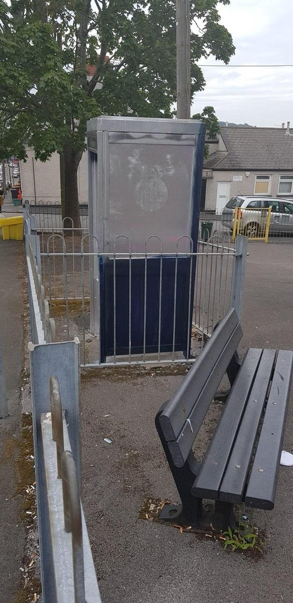 Gwent Police have arranged for this disused phone box in Victoria Crescent, Newport, to be removed following complaints of anti-social behaviour. Picture: Gwent Police