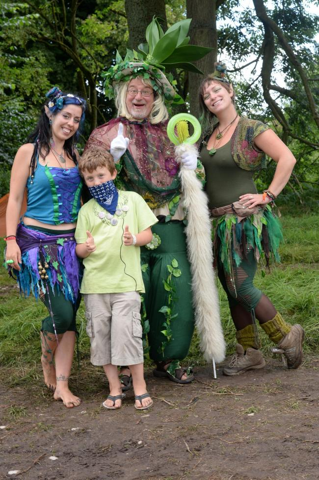 Green Gathering Festival - The Seelie Court Faeries performers at Green Gathering in Chepstow. Picture: Michael Eden