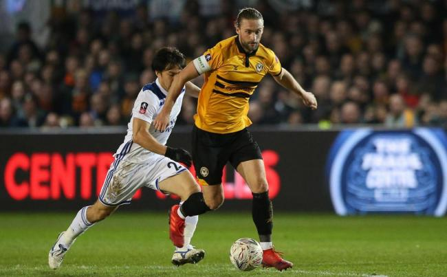 SUPPORT: Former Newport County captain Fraser Franks in action against Leicester City in January