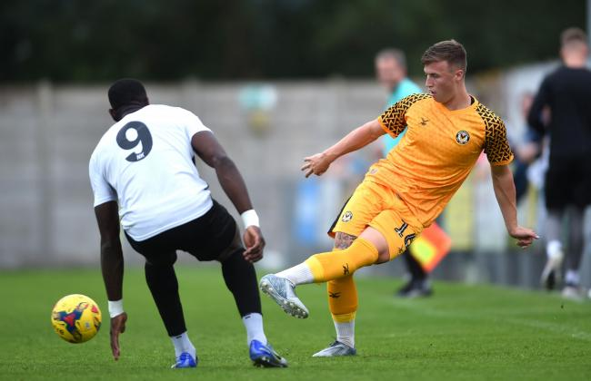 IMPRESSIVE: George Nurse in action for Newport County at Weston-super-Mare on Monday. Picture: Huw Evans Agency