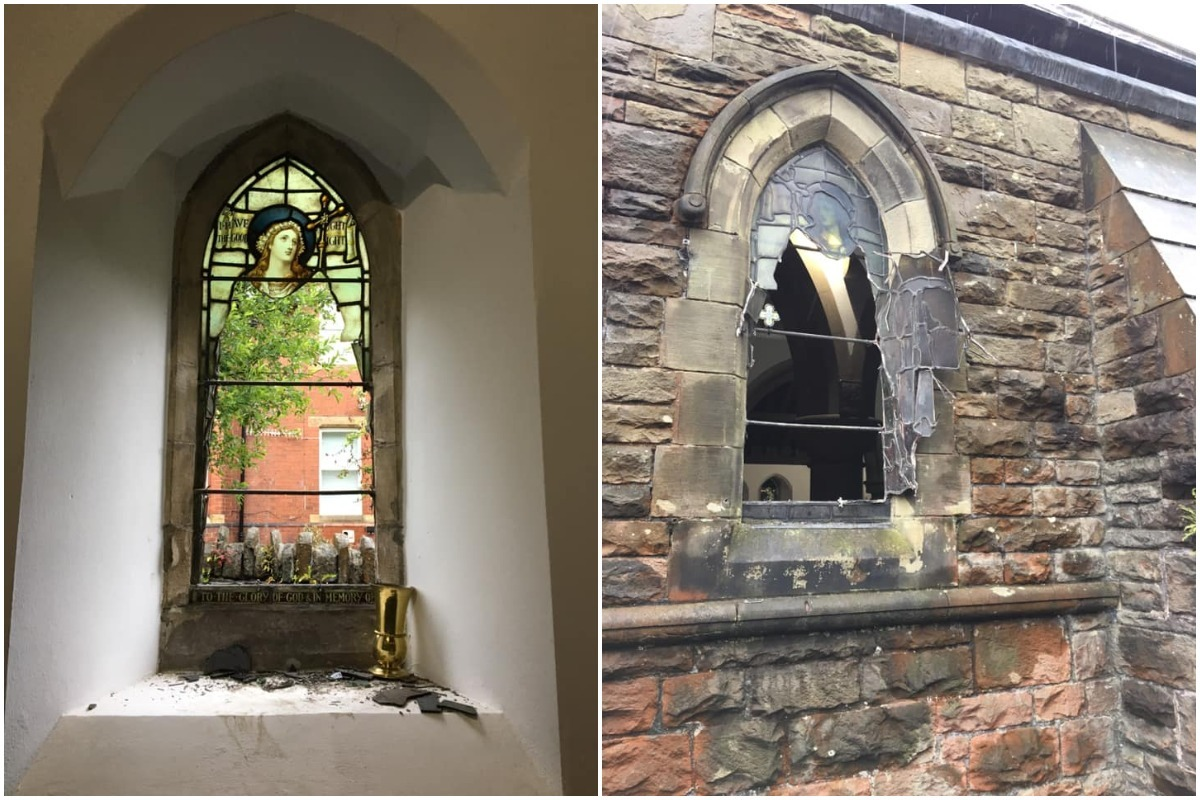 Fundraising page set up as community rally around St Hilda's Church after it was targeted by vandals