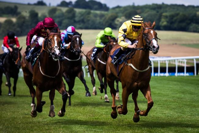 GREAT RUN: Don't Stop Dancing (right) winning at Chepstow a fortnight ago