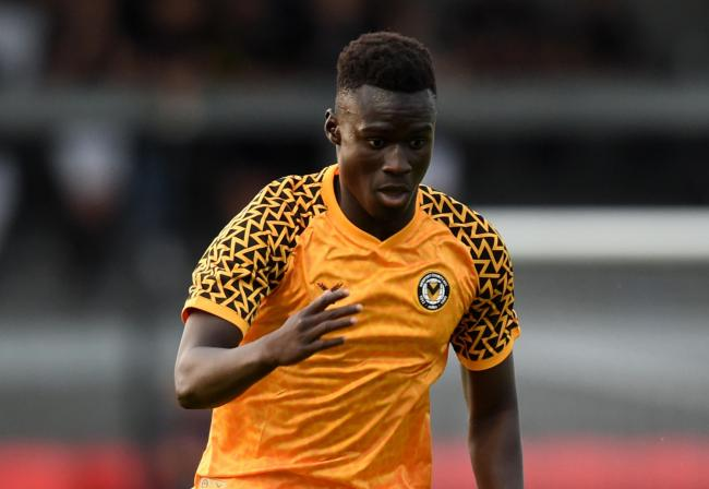 LOAN: Newport County striker Momodou Touray has joined Torquay United