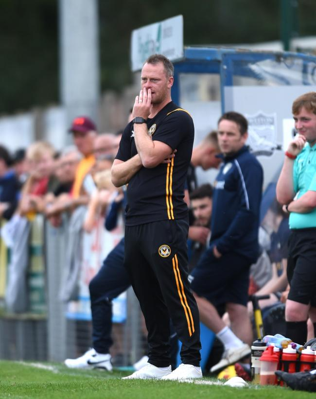 FOCUSED: Newport County manager Michael Flynn is ready for the big kick-off this afternoon