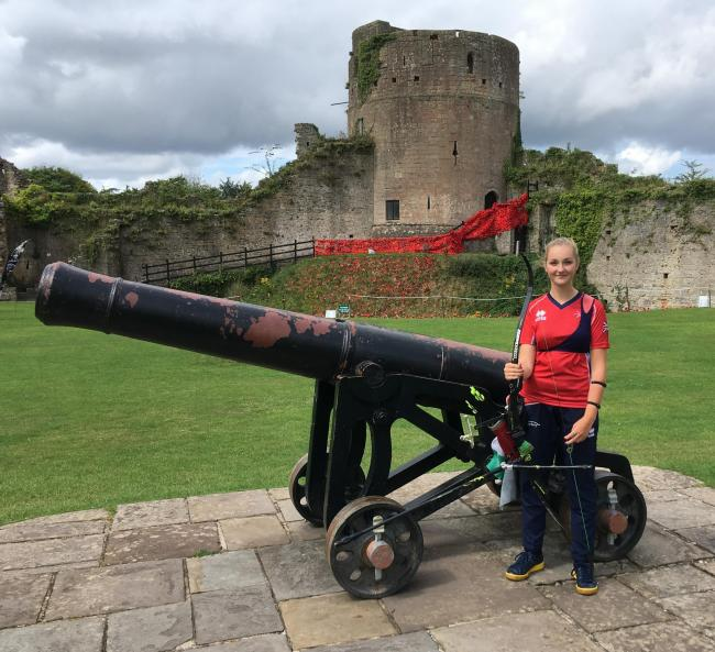 TOP TALENT: Cwmbran's Thea Rogers takes in the surroundings at Caldicot Castle