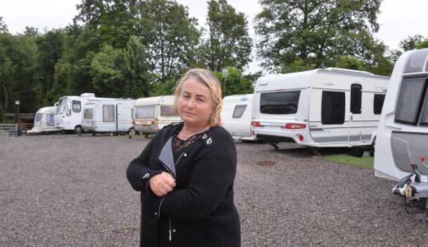 South Wales Argus: Colleen Rogers at the Brickyard Lane camp.