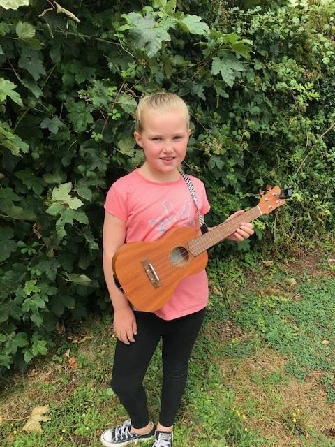 Seven-year-old Brooke Wells, from Pontypool, is appearing on BBC Radio 2 tomorrow morning to perform on her ukulele.