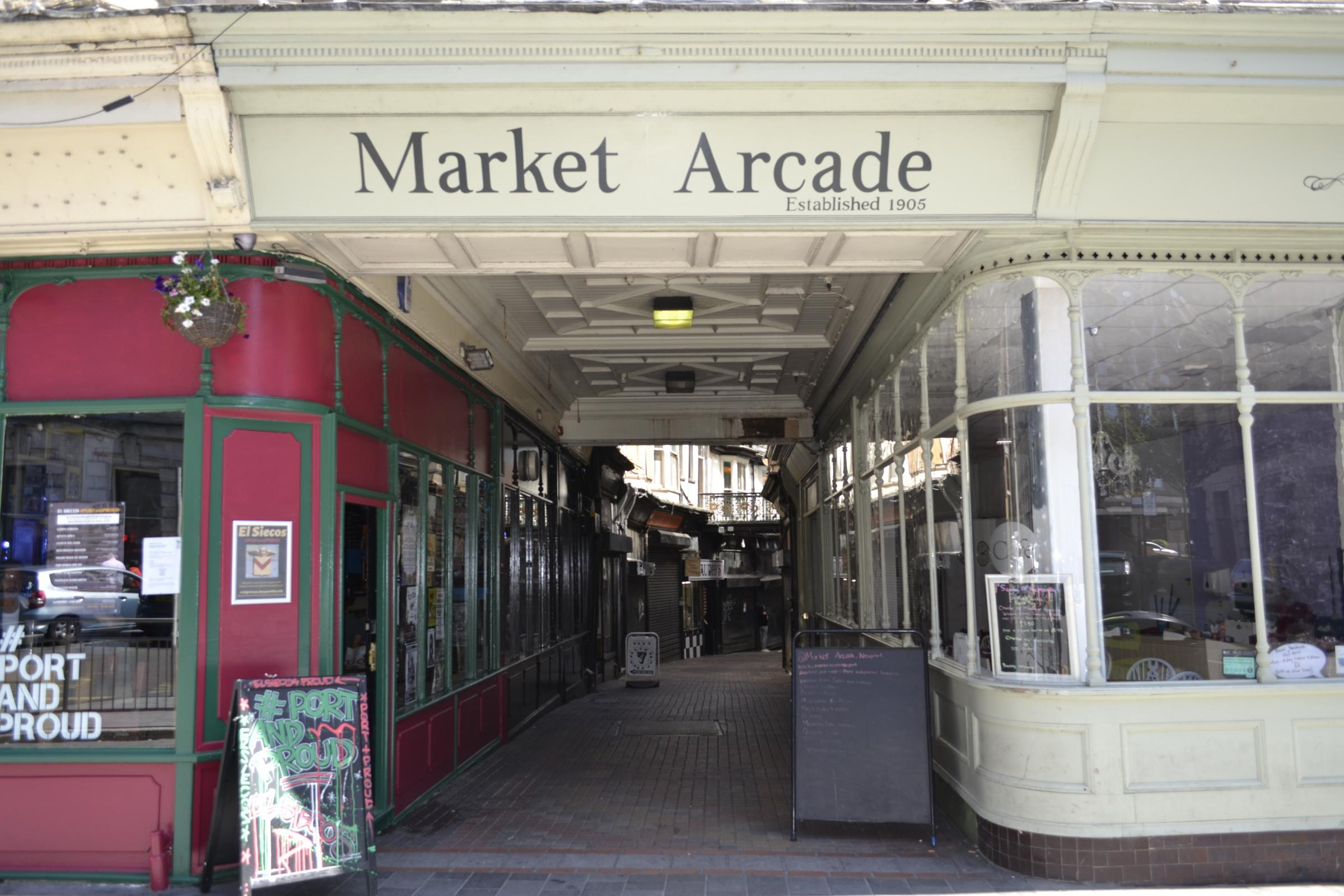 Market Arcade in Newport to be gated off at night to tackle anti-social behaviour
