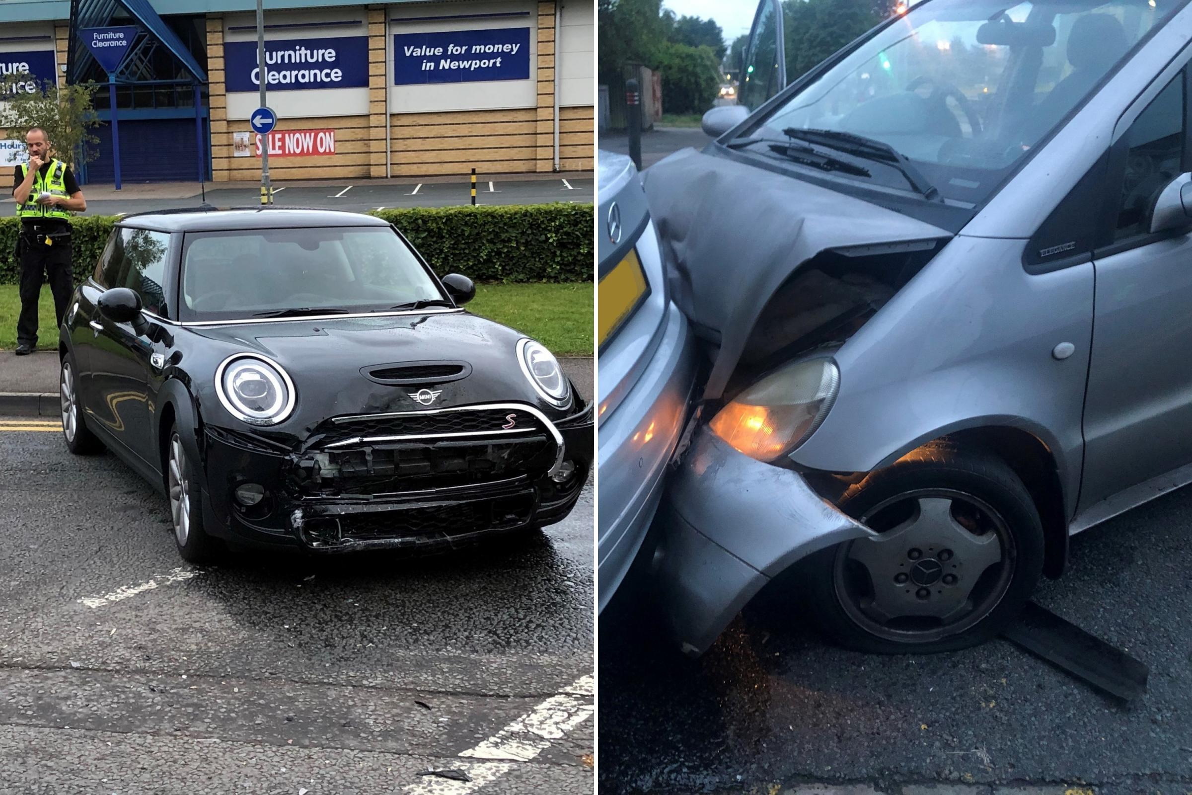 Police appeal after Newport crash driver flees scene