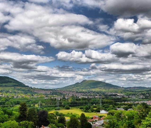 Clouds over Abergavenny. Picture: South Wales Argus Camera Club member Robin Birt