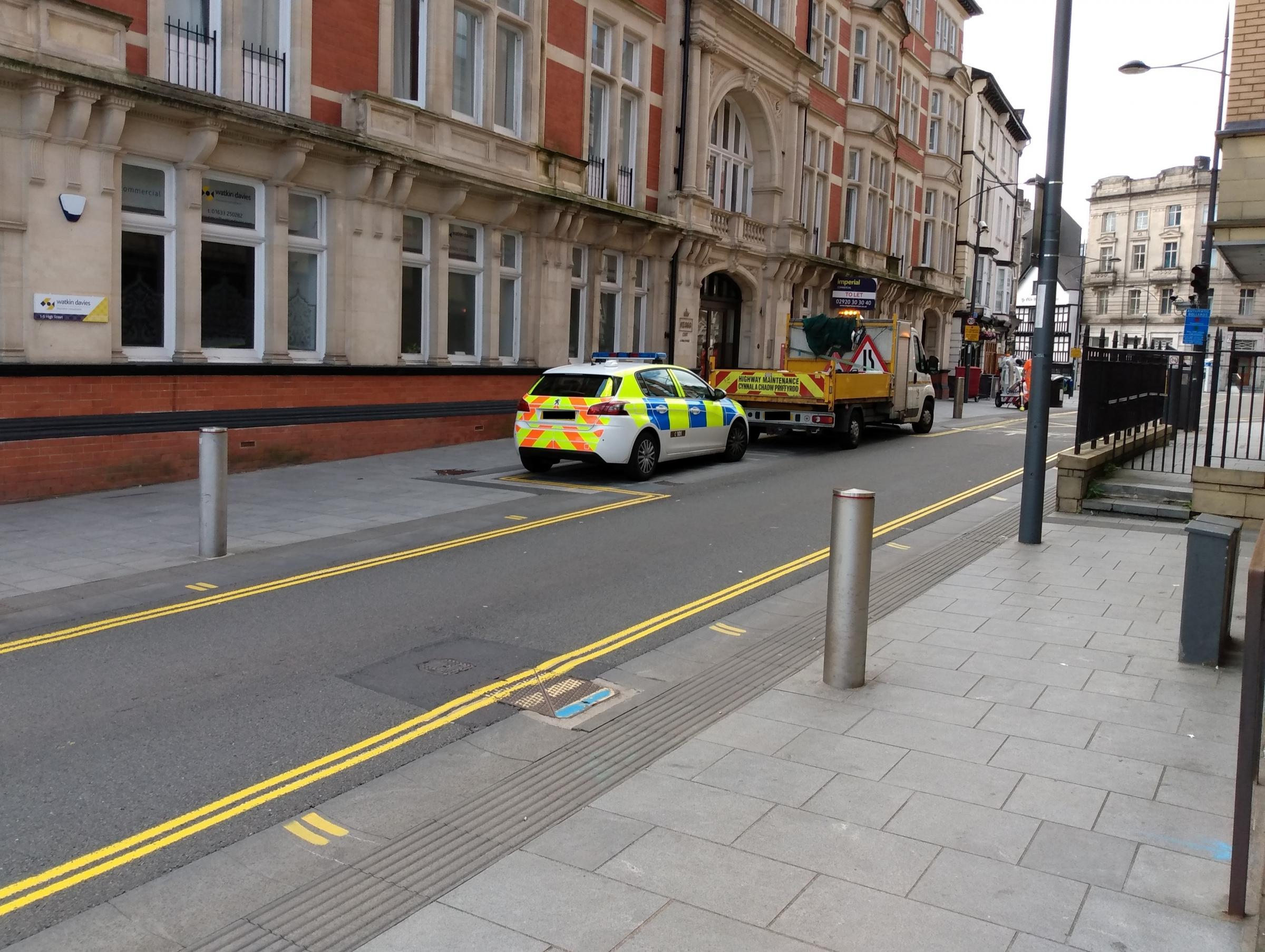 Police cordon off underpass after early morning assault in Newport city centre