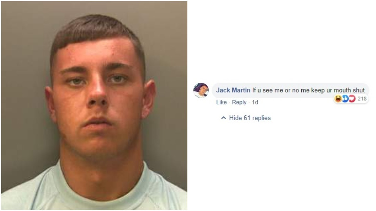 Burglar comments on his own police appeal warning people not to reveal his whereabouts