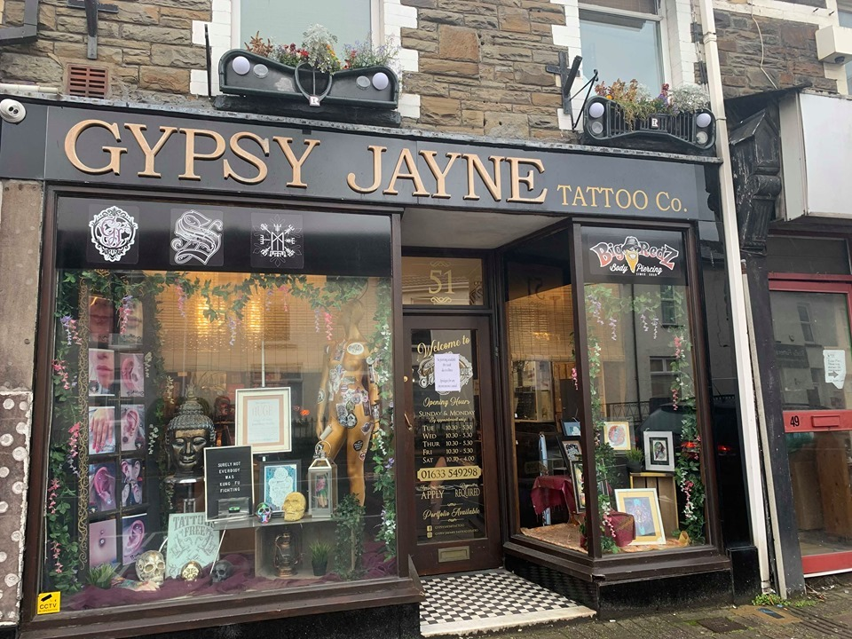 Risca's Gypsy Jayne's tattoo studio celebrating a decade of success and awards