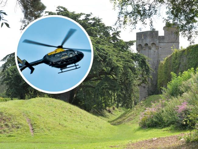 Stock images of a police helicopter and Caldicot Castle. Pictures: www.christinsleyphotography.co.uk (castle)/South Wales Argus Camera Club member Lee Kershaw (helicopter)