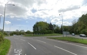 Crash causes partial blockage of A467 at Morrisons roundabout Rogerstone