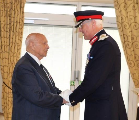 Former Mayor of Caerphilly county borough Leon Gardiner receives British Empire Medal