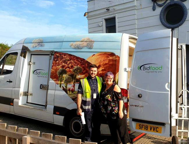 Bidfood Chepstow has been helping Swansea East MP Carolyn Harris give back to children and families in need during the summer holiday