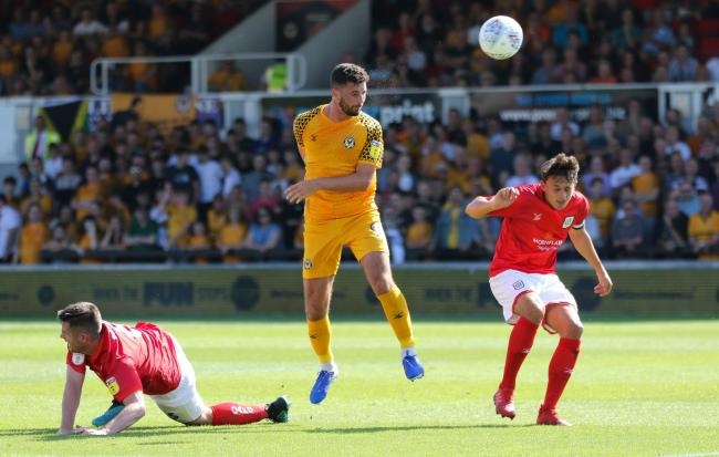 GOAL: Padraig Amond scored the winner for Newport County against Crewe Alexandra. Pictures: Huw Evans Agency
