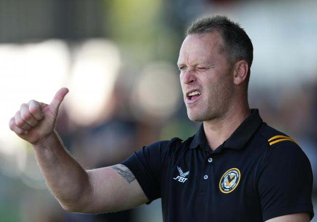HONEST: Newport County boss Michael Flynn admits his side were lucky to beat Crewe Alexandra