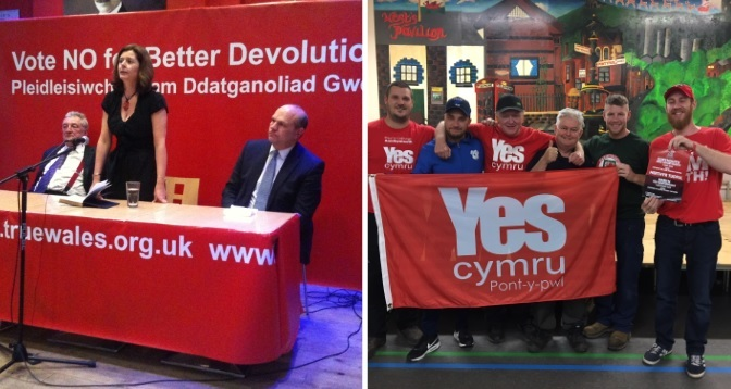 Here is what the pro and anti-independence groups had to say
