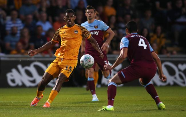 STAR: Tristan Abrahams impressed for Newport County against West Ham United. Pictures: Huw Evans Agency